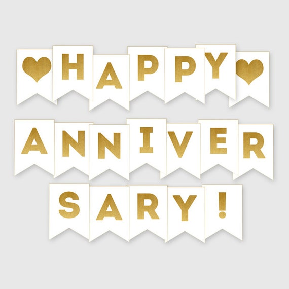 Current image throughout happy anniversary banner free printable