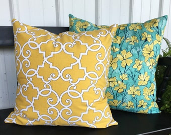 20x20 Pillow Cover Mustard Yellow Throw Decorative Pillow