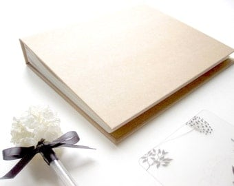 "7 x 8.8"" // Chic Kraft Blank Hard Cover Pocket Photo Album 。 4 x 6"" Photo Album 。 Wedding Album 。 Baby Memory Book"