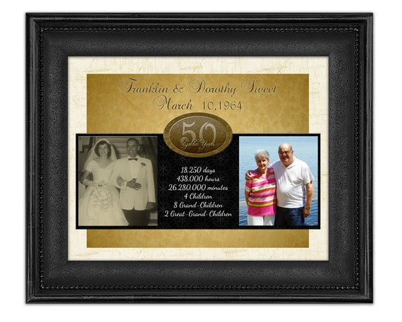 Personalised 50th Wedding Anniversary Gifts: 50th Wedding Anniversary Gift