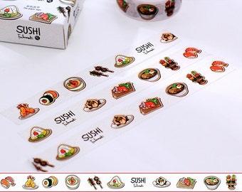 10M Kawaii Sushi Washi Tape 10mx15mm