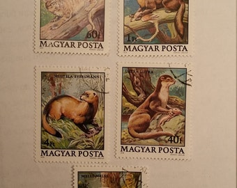 Lot of 5 Magyar Postage Stamps