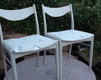 Pair of vintage. dining chairs