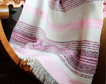 Handwoven woven baby blanket throw wool blanket / baby blanket / woven baby blanket / handwoven woven throw / baby shower gift