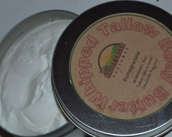 Whipped Tallow Body Butter - Pomegranate - 4 oz. - Fragrance Oil