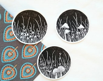 large circle stickers - hand-drawn - limited edition