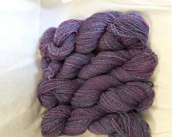 CC16/376 Handspun yarn. Wool and Rose fibre blend