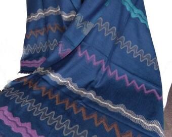 PASHMINA ethnic wool blue shawl stole scarf shawl stole LJ15