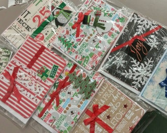 Handmade Christmas/Holiday Cards *Pack of 10 for 12 dollars*