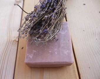 ROSE CLAY SOAP - Handmade Rose clay soap - Rose clay soap with lavender - Facial soap with rose clay and shea butter -Organic soap-Clay soap