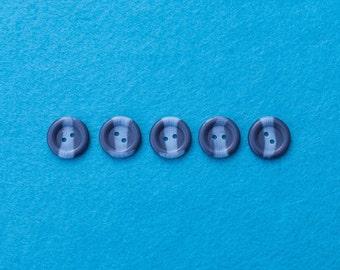 Navy Blue  Arran Buttons