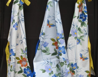 Reversible Aprons: floral/yellow or floral/blue