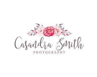 Custom Logo Design Premade Logo photography logo graphic design custom logo design flower logo photographer logo boutique logo business logo