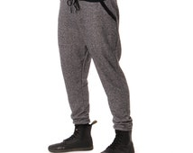 Black Salt And Pepper Men's Jogger Pants