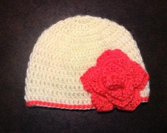 Flowered Baby Hat