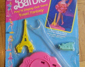 Play and Display Doll Stand 1980's Barbie Eiffel tower 1990's Travel Fantasy France