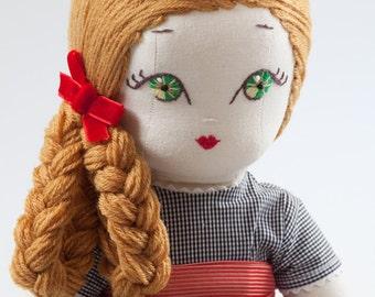 Stella - Handmade Cloth Doll