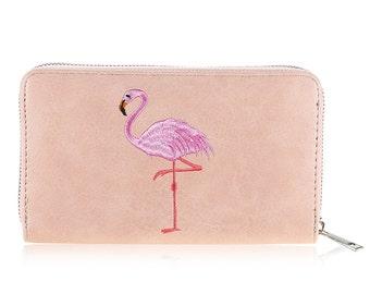 Flamingo wallet pink