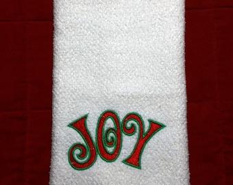 Christmas hand towel