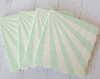 Aqua Mint Stripe Napkin