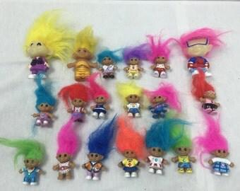 Lot of 19 Mini Treasure Trolle
