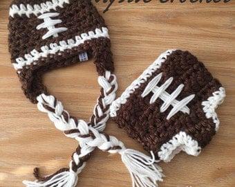 Crochet Baby Football set , photo prop, superbowl set