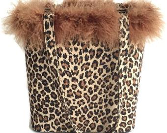 Flash Sale 30% off Flash Sale 90's Fuzzy Leopard Print Purse Handbag
