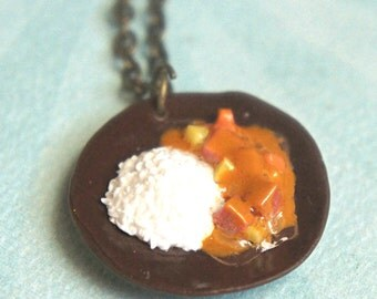 japanese curry necklace- miniature food jewelry