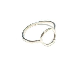 "Ring Fine in silver hammered Massif ""Camboriú"""
