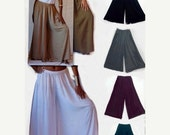 FEB SPECIAL 20% OFF U656 Gaucho Palazzo Pants Split Skirt Wide Leg Elastic Waist Made To Order s m l xl 1x 2x 3x 4x 5x 6x Choose Your Colors