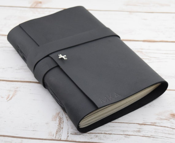 Black Leather Journal Travel Journal Prayer By