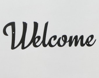 "Welcome sign #1 - Metal Wall Sign - 12"" - (GG6---)"