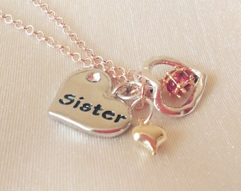sister necklace, sister, sister jewelry, sister gift, sister jewellery, gift for sisters, sisters, gift, jewelry,