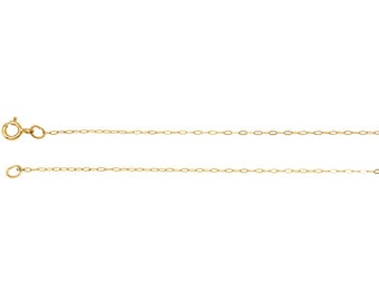 Fine Gold Cable chain 14K yellow or white