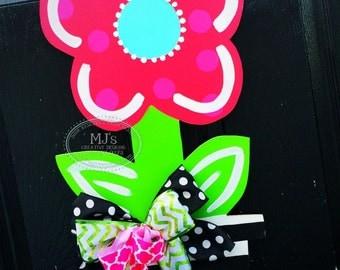 Spring Door Hanger- Flower Pot Door Hanger, Summer Door Hanger, Spring Door  Decor