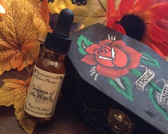 Season of the Witch Essential Oil Autumn Halloween Samhain Blend