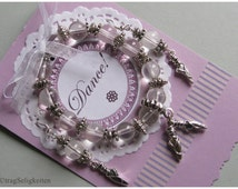 Clear and silver ballet bracelet and earring set, dance jewellery, ballet earrings - dance bracelet - also available separately