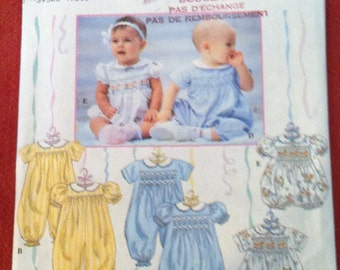 Simplicity 8951 Pattern Babies' Romper in two lengths 1996