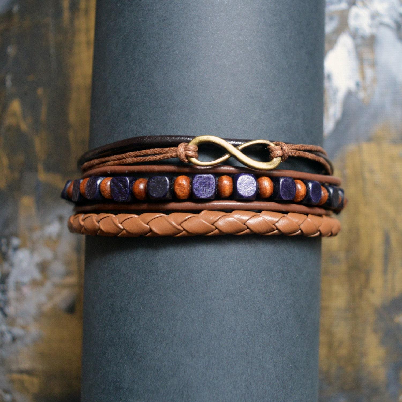 unendlich zeichen armband herren lederarmband cord von. Black Bedroom Furniture Sets. Home Design Ideas