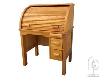 American Girl Kitt's Oak Roll Top Doll Desk