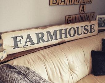 Farmhouse Sign - Wooden Sign - Rustic Decor - Country Decor