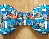 Batman Infant Head Support - Torticollis - Positional Plagiocephaly - Elephant Ear Pillow - Car Seat Accessory- Unique Baby Shower Gift Idea