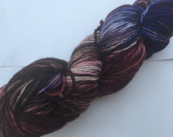 """Hand Dyed Yarn """"Winter Forest Sunset"""""""