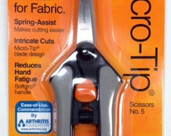 FISKARS Micro-Tip Spring-Assist Scissors for Fabric No. 5