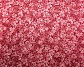 Windham Fabrics SECRETS & SHADOWS (Pink Flowers) - Premium Quality 100% Cotton Fabric - per 1/2 yd