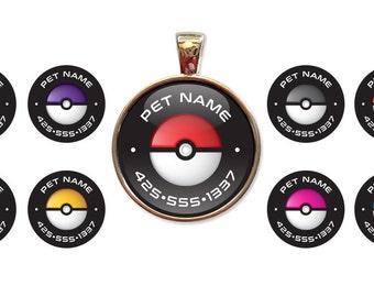 Pokemon Custom Pet ID Tags