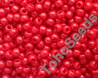 10g Toho Seeds Beads 11/0 Opaque Cherry Red TR-11-45A size 11 Bright Red