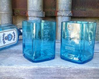 Bombay Sapphire Blue Drinking Glasses