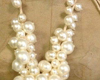 Cluster Shell Pearl Nceklace