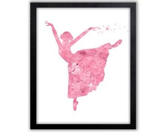 Girls Art, Girls Nursery Art, Dancer Art, Dance Studio Art, Limited Edition Art Print - DS7001P